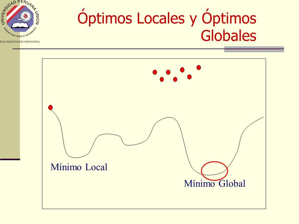 Mínimo Global Mínimo Local Óptimos Locales y Óptimos Globales