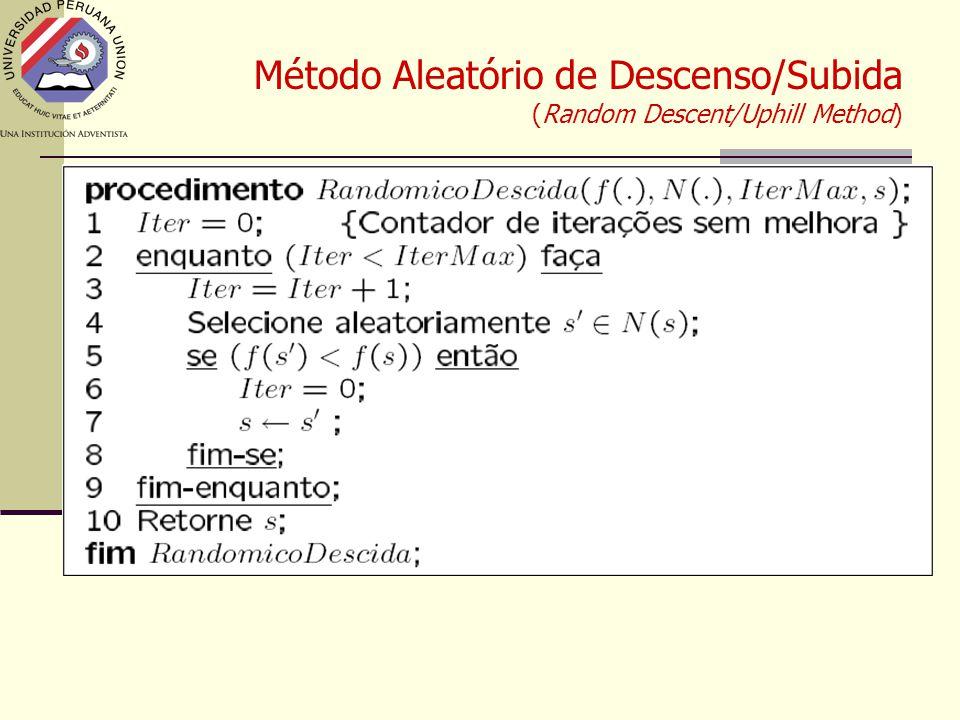 Método Aleatório de Descenso/Subida (Random Descent/Uphill Method)