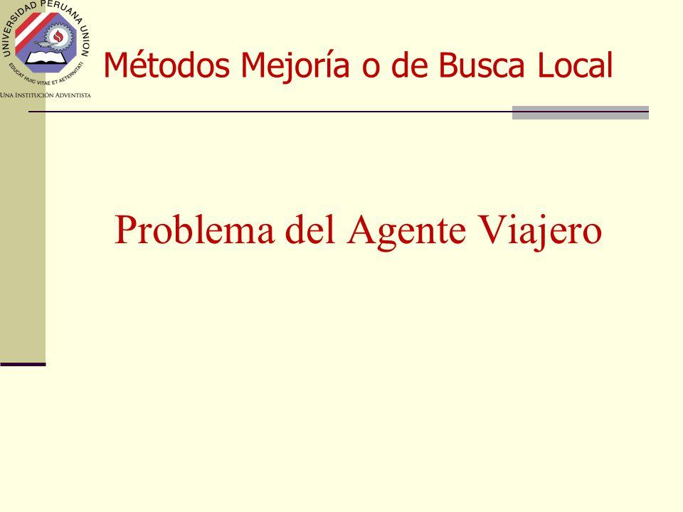 Métodos Mejoría o de Busca Local Problema del Agente Viajero