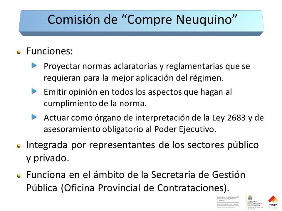 Funciones: Proyectar normas aclaratorias y reglamentarias que se requieran para la mejor aplicación del régimen.