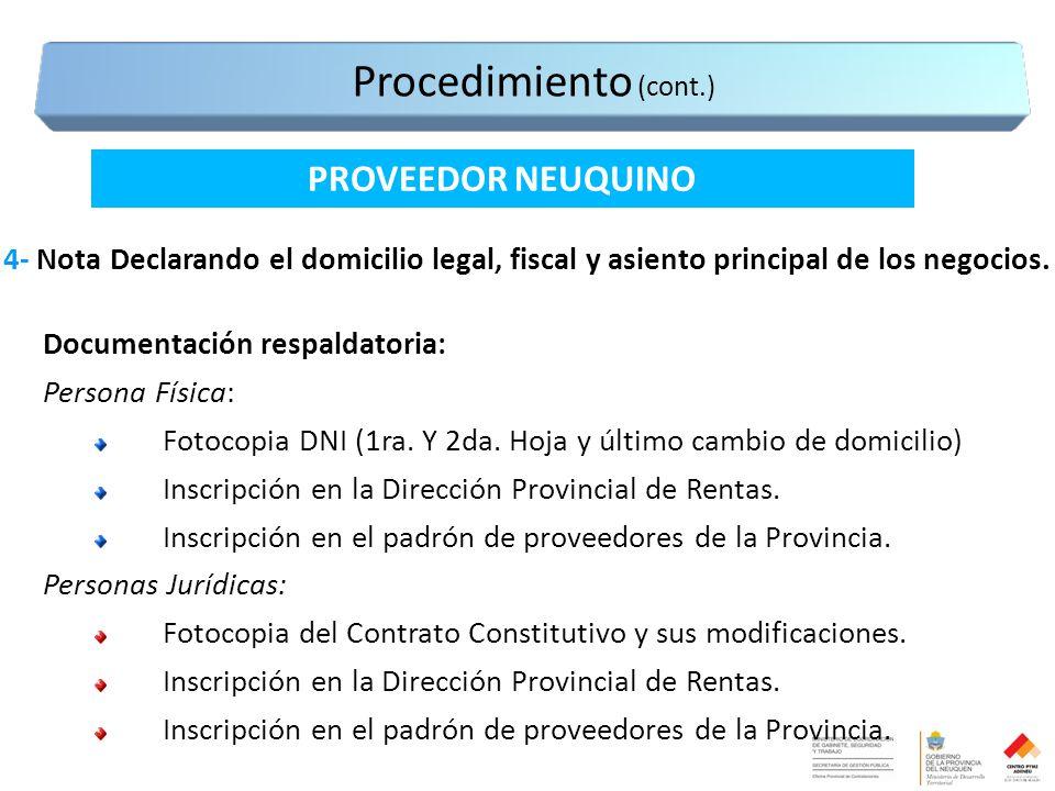 4- Nota Declarando el domicilio legal, fiscal y asiento principal de los negocios.