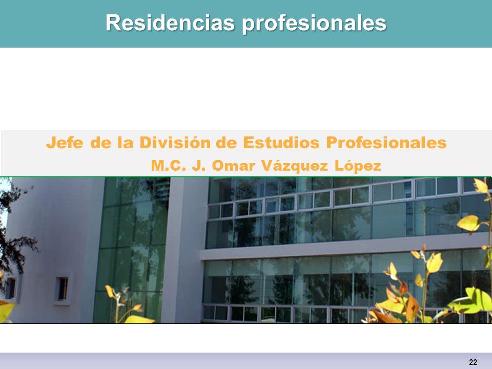 Residencias profesionales 22 Jefe de la División de Estudios Profesionales M.C.