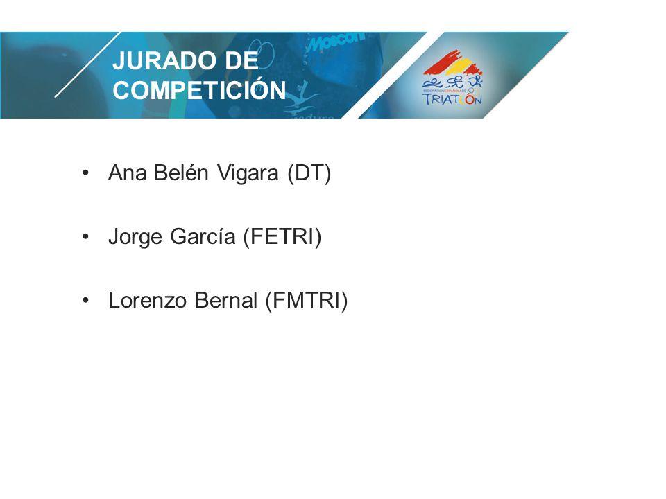 JURADO DE COMPETICIÓN Ana Belén Vigara (DT) Jorge García (FETRI) Lorenzo Bernal (FMTRI)