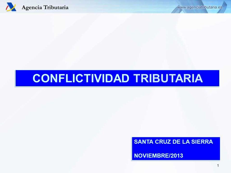 CONFLICTIVIDAD TRIBUTARIA 1 SANTA CRUZ DE LA SIERRA NOVIEMBRE/2013 SANTA CRUZ DE LA SIERRA NOVIEMBRE/2013