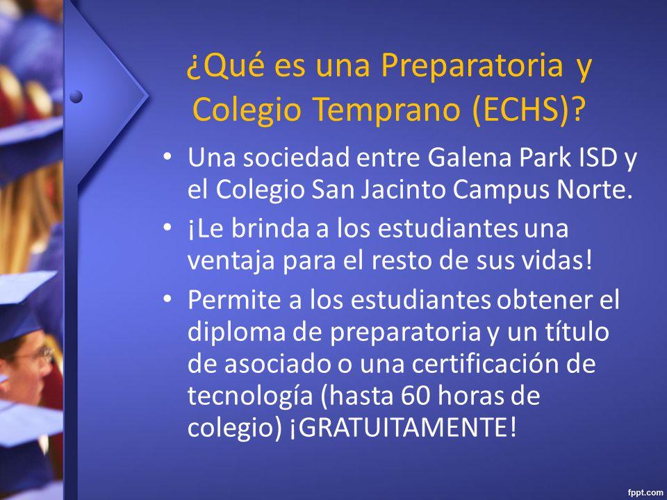 ¿Qué es una Preparatoria y Colegio Temprano (ECHS).