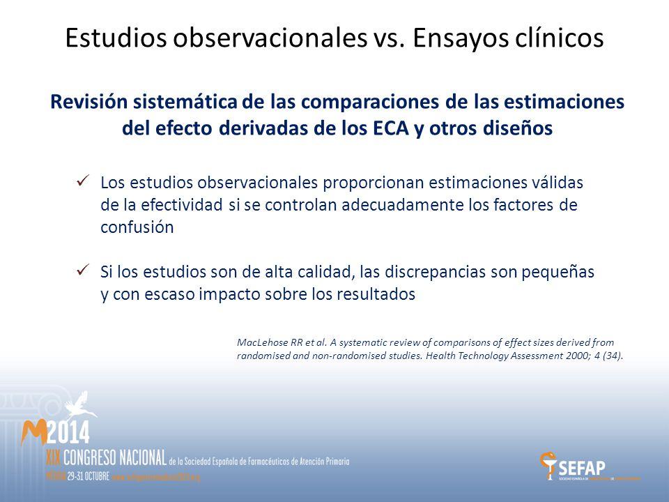 Estudios observacionales vs.