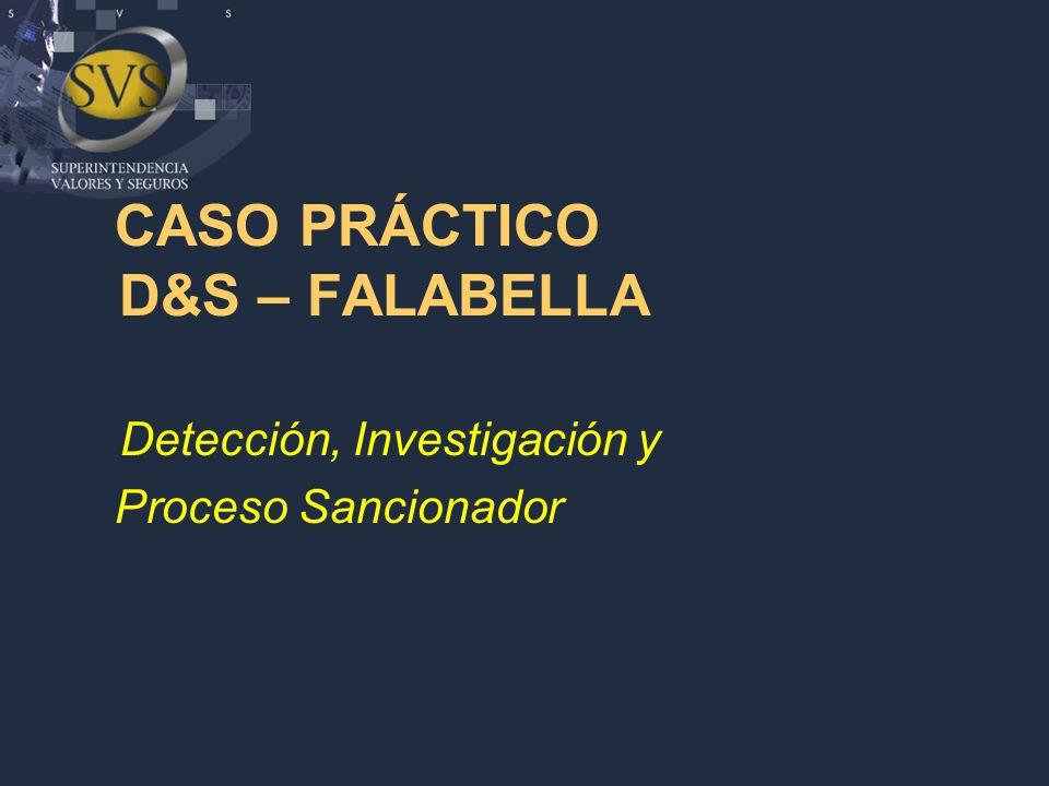 CASO PRÁCTICO D&S – FALABELLA Detección, Investigación y Proceso Sancionador