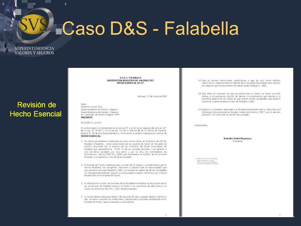 Caso D&S - Falabella Revisión de Hecho Esencial