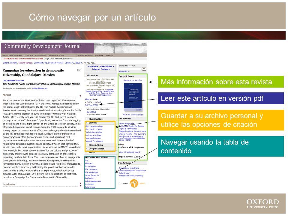 Guardar a su archivo personal y utilice las opciones de citación Navegar usando la tabla de contenido Leer este artículo en versión pdf Más información sobre esta revista Cómo navegar por un artículo