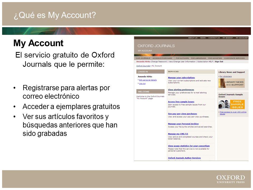 ¿Qué es My Account.