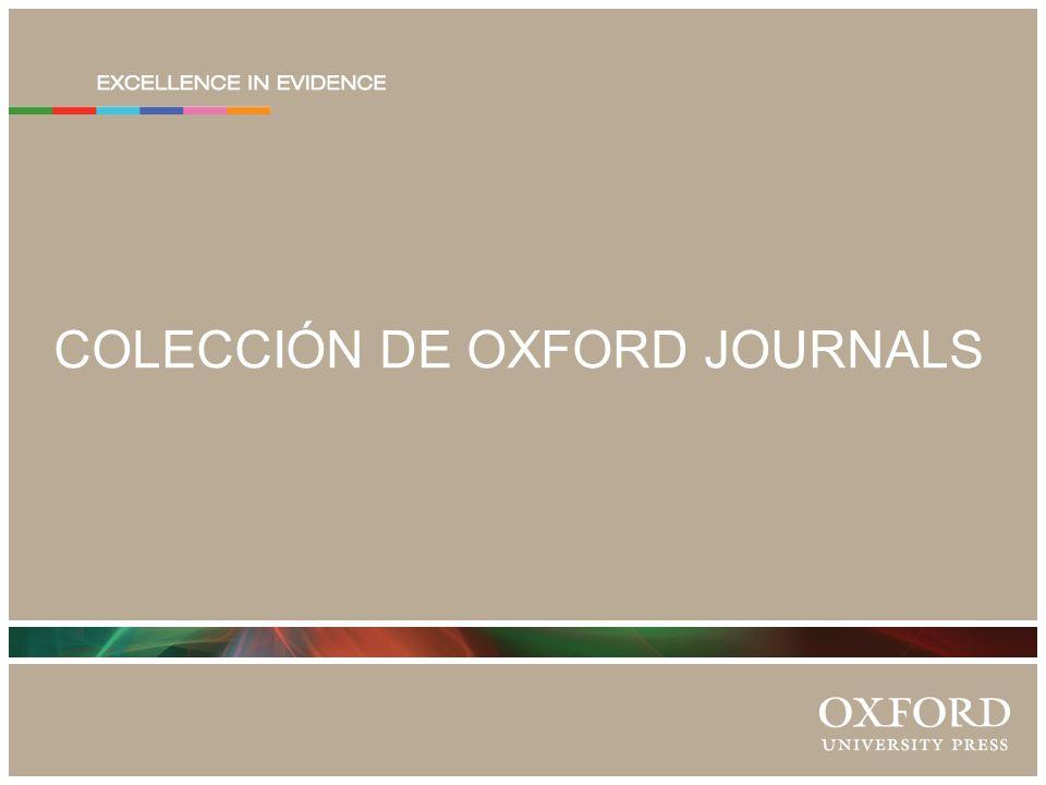COLECCIÓN DE OXFORD JOURNALS