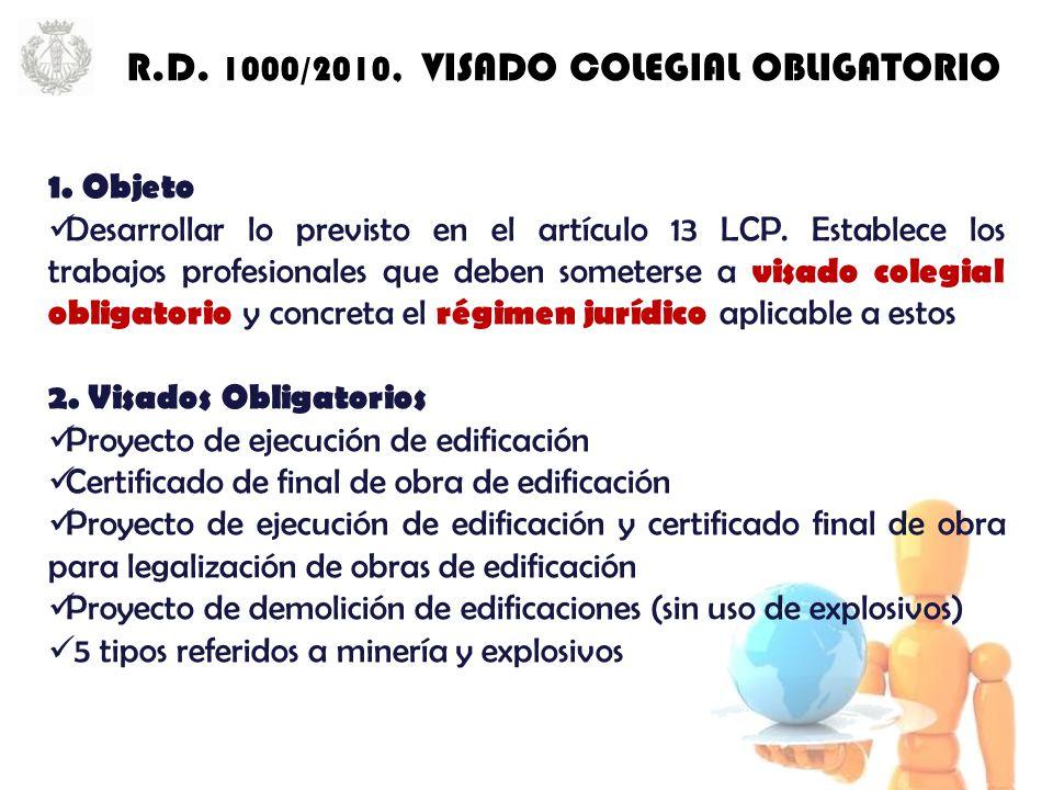 1. Objeto Desarrollar lo previsto en el artículo 13 LCP.