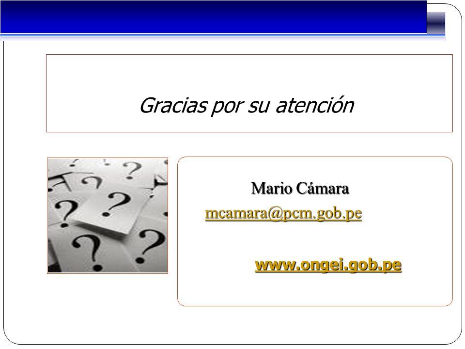 Project Management Gracias por su atención Mario Cámara Mario Cámara mcamara@pcm.gob.pe mcamara@pcm.gob.pemcamara@pcm.gob.pe www.ongei.gob.pe www.ongei.gob.pe www.ongei.gob.pe