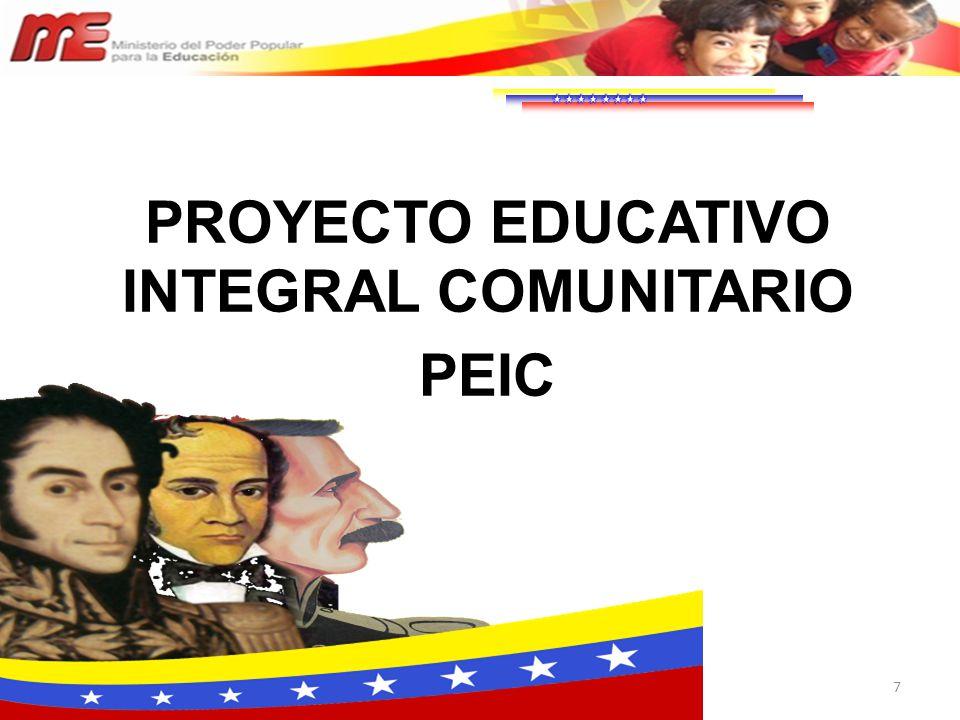 7 PROYECTO EDUCATIVO INTEGRAL COMUNITARIO PEIC