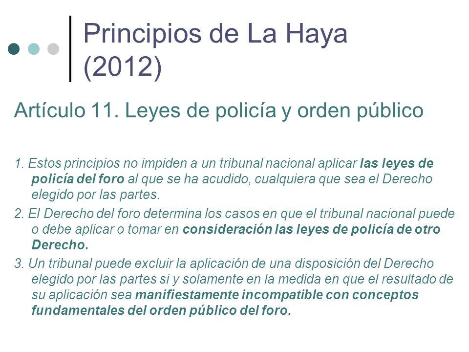 Artículo 11. Leyes de policía y orden público 1.