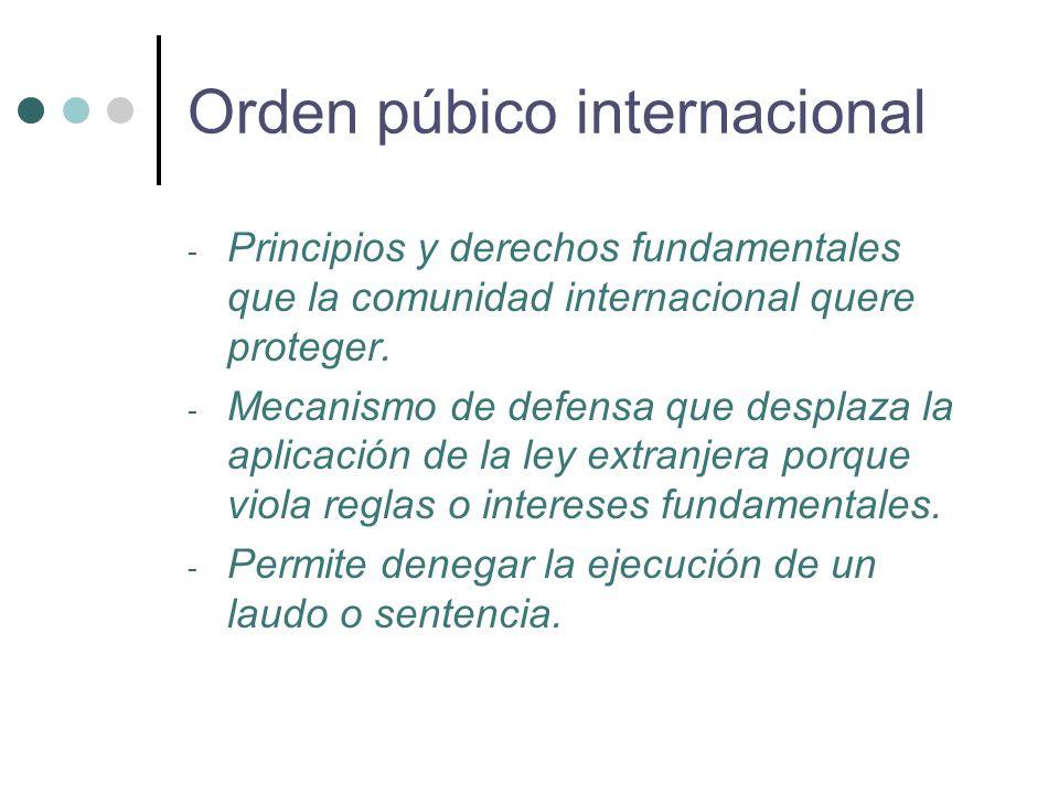 - Principios y derechos fundamentales que la comunidad internacional quere proteger.