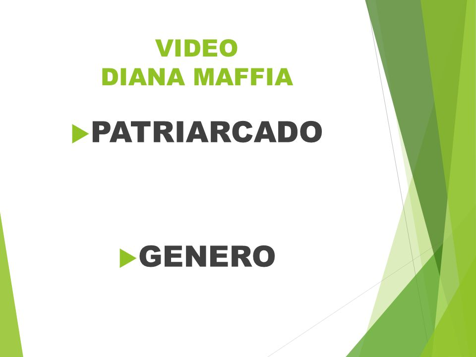 VIDEO DIANA MAFFIA  PATRIARCADO  GENERO