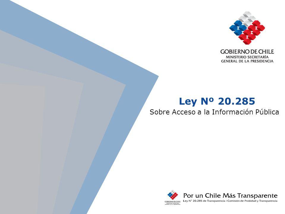 Ley Nº 20.285 Sobre Acceso a la Información Pública