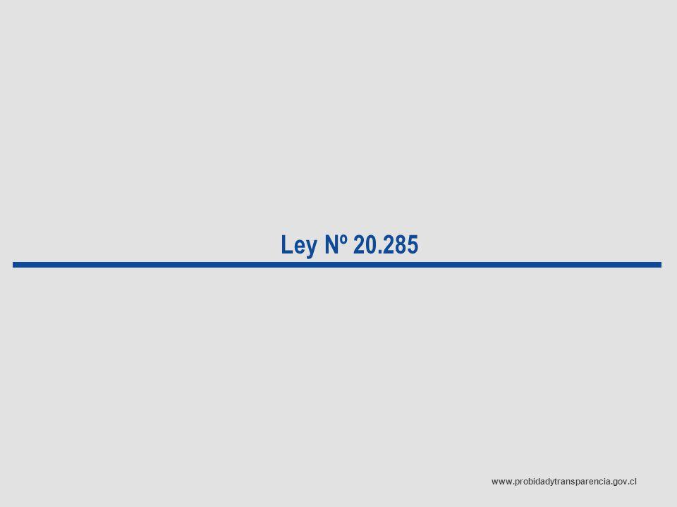 www.probidadytransparencia.gov.cl Ley Nº 20.285
