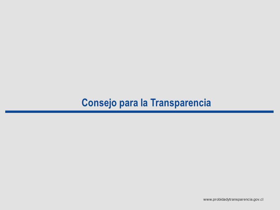 www.probidadytransparencia.gov.cl Consejo para la Transparencia