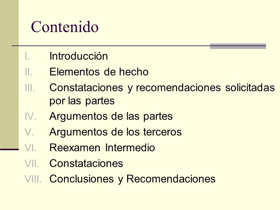Contenido I. Introducción II. Elementos de hecho III.