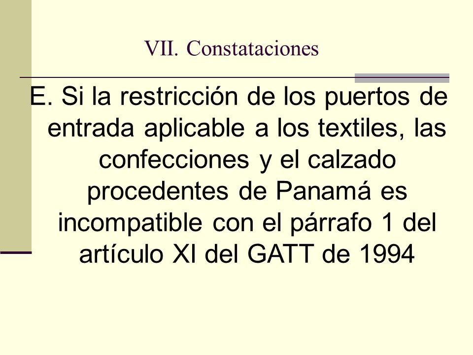VII. Constataciones E.