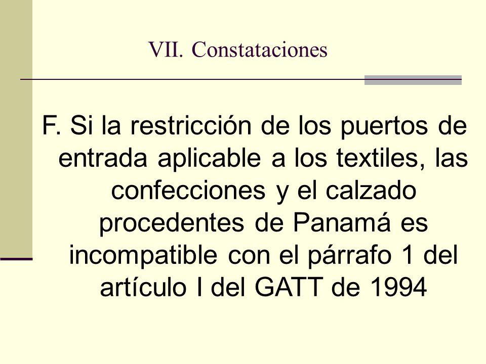 VII. Constataciones F.