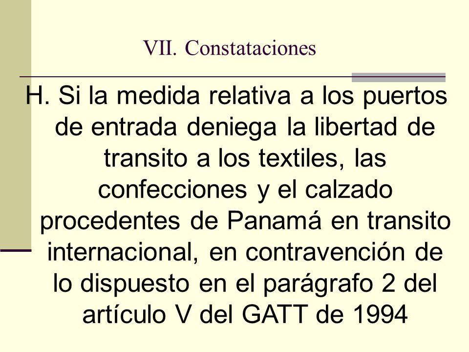 VII. Constataciones H.