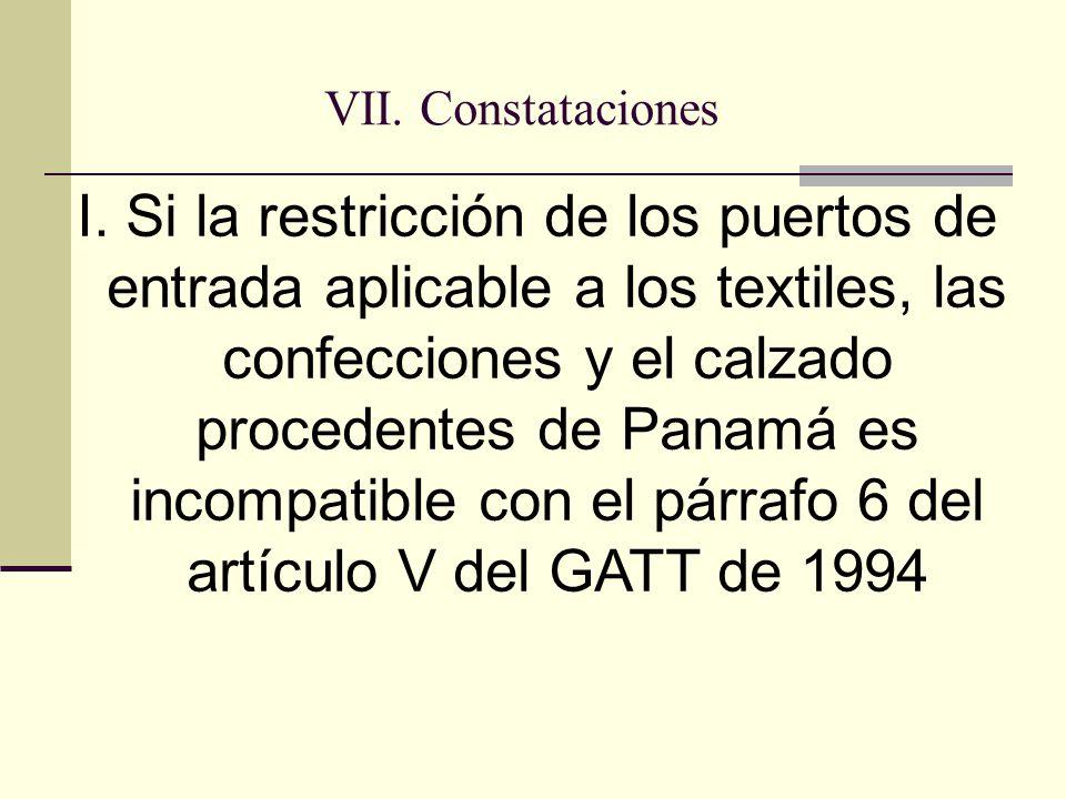 VII. Constataciones I.