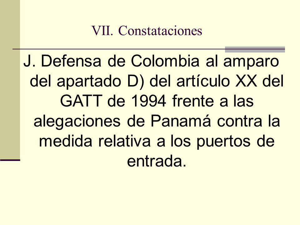 VII. Constataciones J.