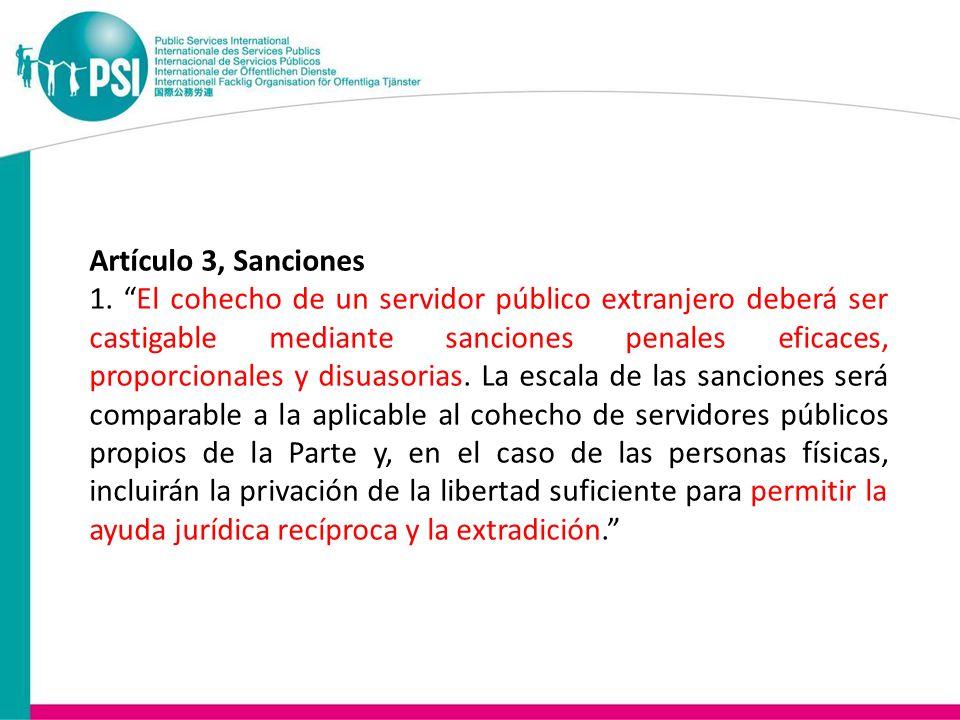 Artículo 3, Sanciones 1.