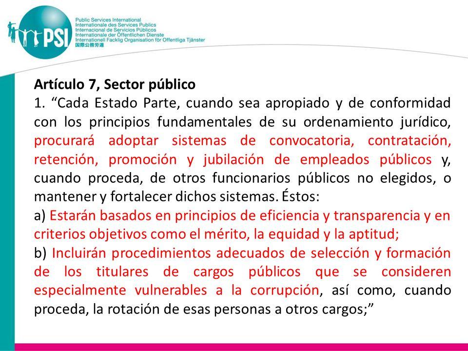 Artículo 7, Sector público 1.