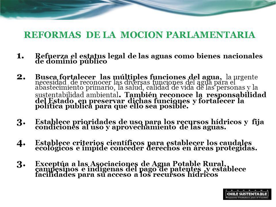 REFORMAS DE LA MOCION PARLAMENTARIA 1.