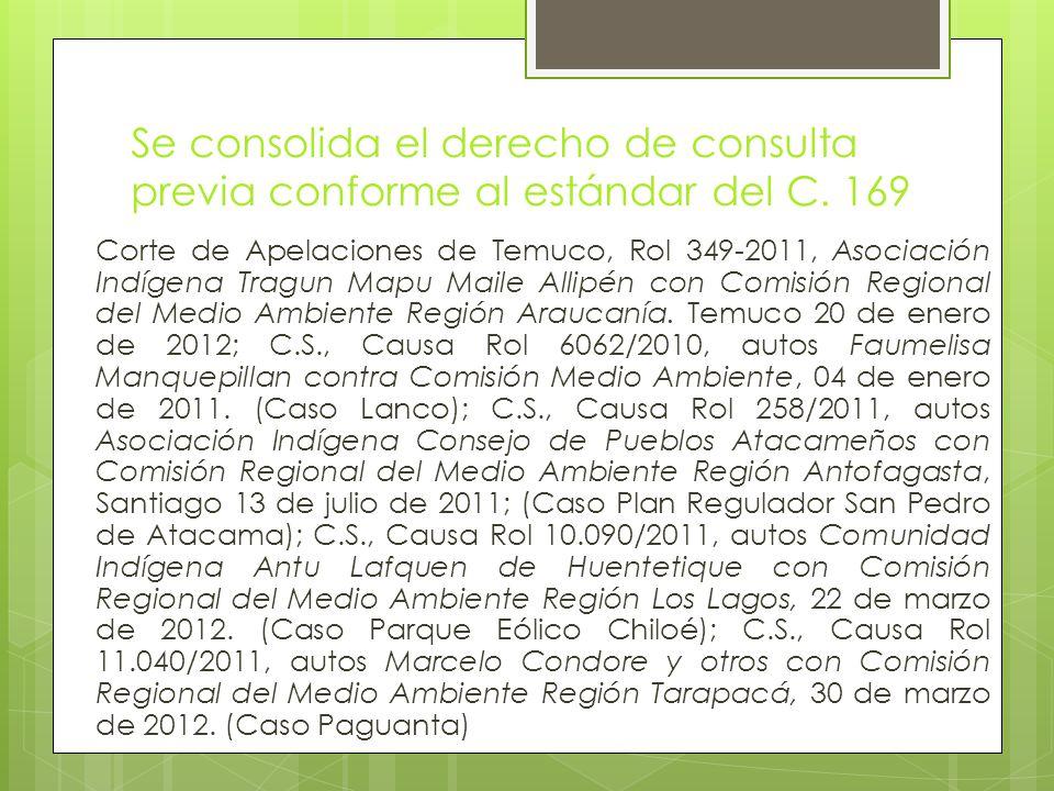 Se consolida el derecho de consulta previa conforme al estándar del C.