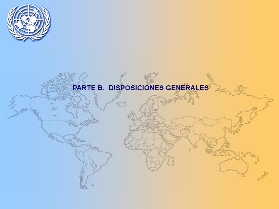 PARTE B. DISPOSICIONES GENERALES