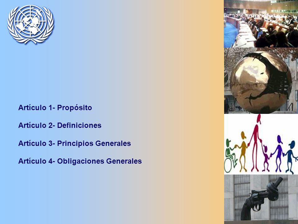 Artículo 1- Propósito Artículo 2- Definiciones Artículo 3- Principios Generales Artículo 4- Obligaciones Generales