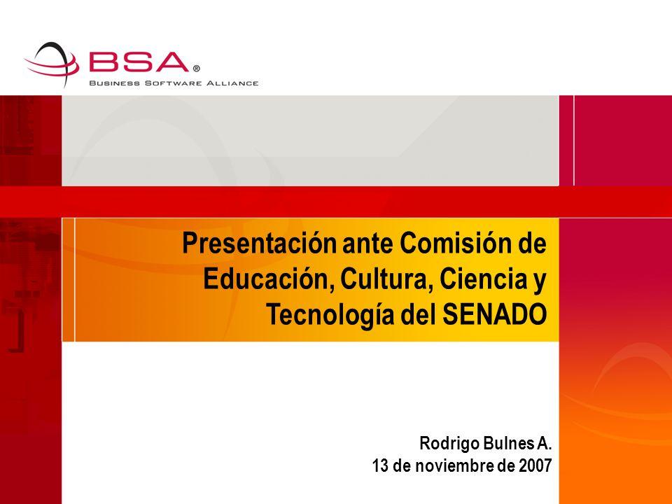 Presentación ante Comisión de Educación, Cultura, Ciencia y Tecnología del SENADO Rodrigo Bulnes A.
