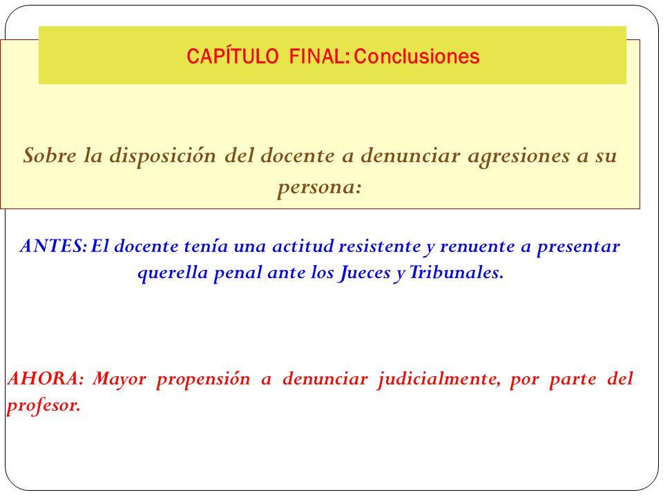 Sobre la calificación penal de las agresiones contra docentes ANTES: Los jueces y fiscales las calificaban como Faltas de Lesiones.