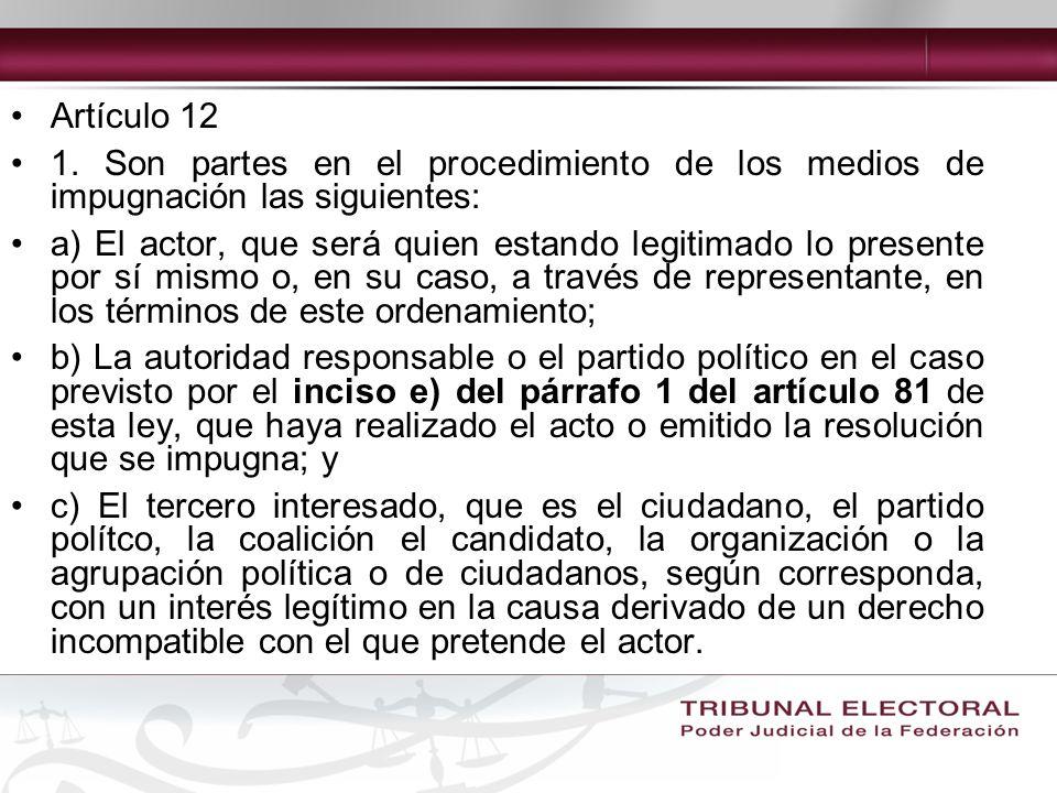 Artículo 12 1.