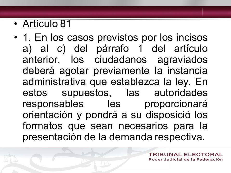Artículo 81 1.