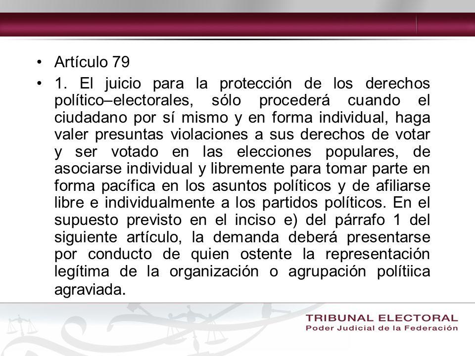 Artículo 79 1.