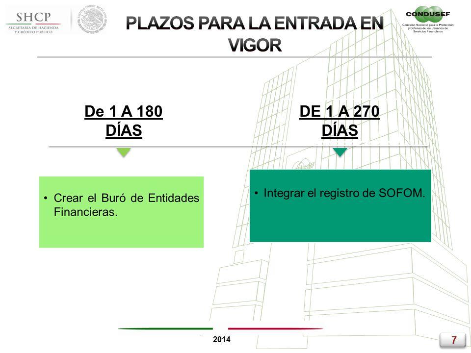 7 7 2014 De 1 A 180 DÍAS DE 1 A 270 DÍAS