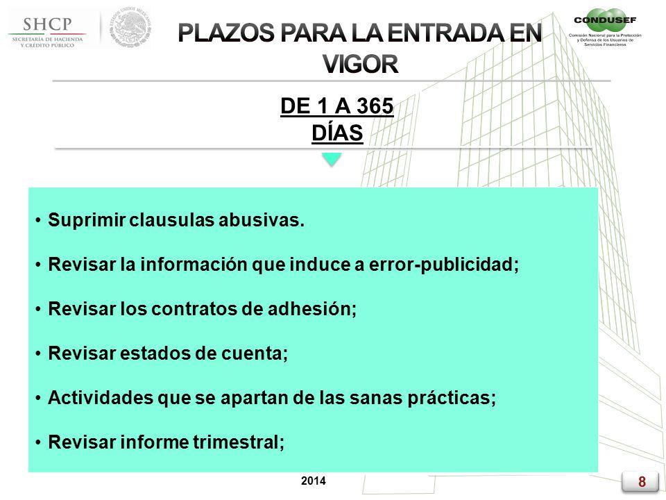 8 8 2014 DE 1 A 365 DÍAS Suprimir clausulas abusivas.
