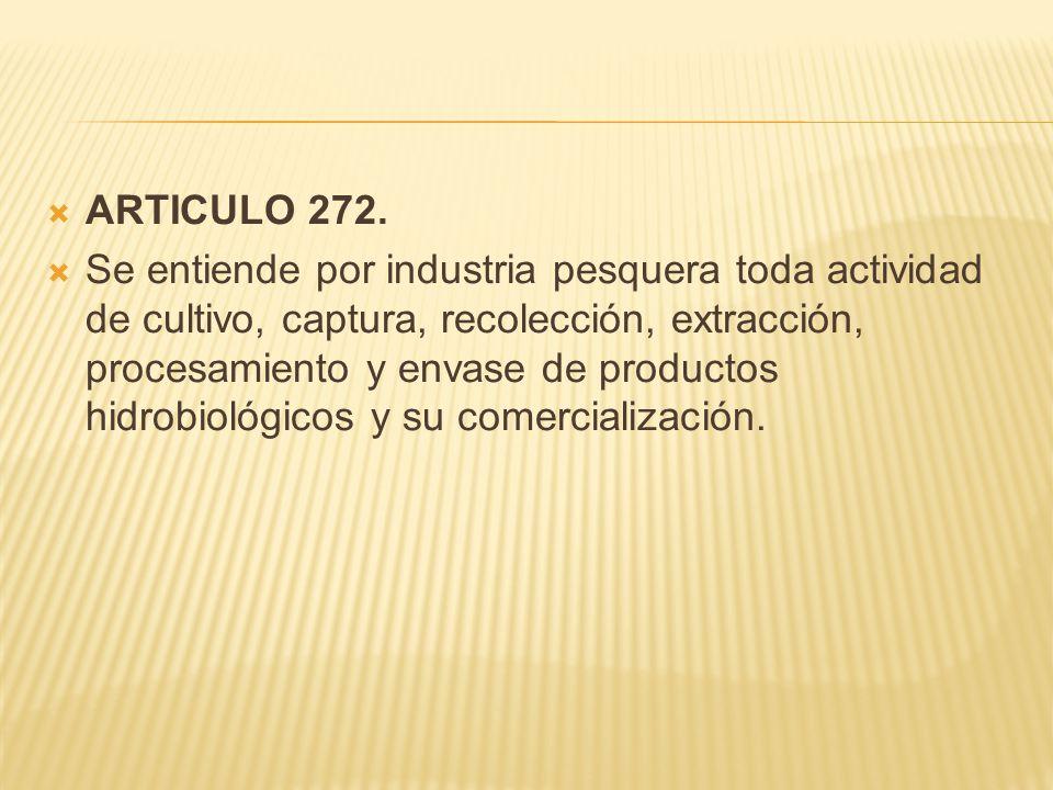  ARTICULO 272.