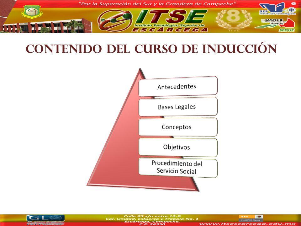CONTENIDO DEL CURSO DE INDUCCIÓN