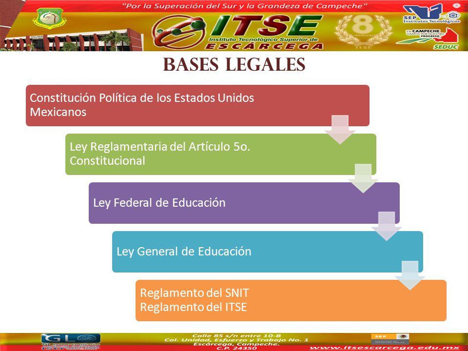 BASES LEGALES Constitución Política de los Estados Unidos Mexicanos Ley Reglamentaria del Artículo 5o.