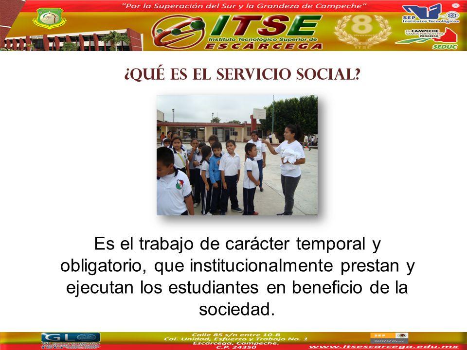 ¿QUÉ ES EL SERVICIO SOCIAL.