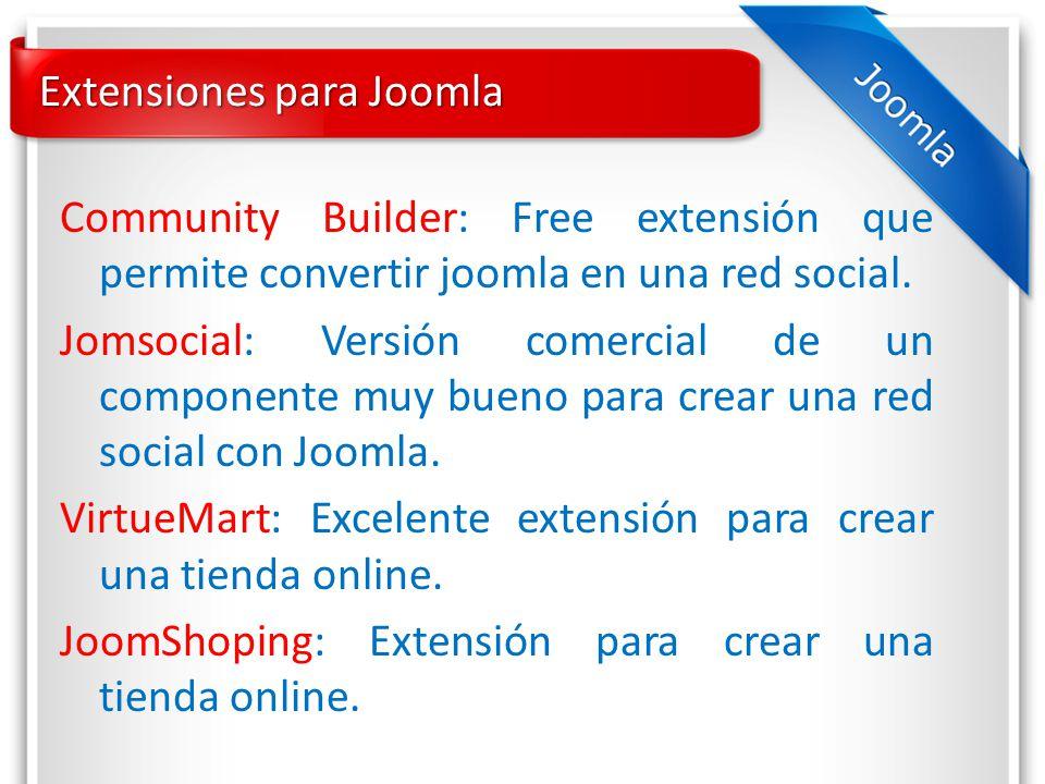 Extensiones para Joomla Community Builder: Free extensión que permite convertir joomla en una red social.