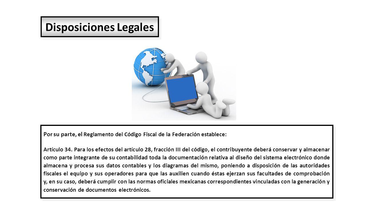 Por su parte, el Reglamento del Código Fiscal de la Federación establece: Artículo 34.