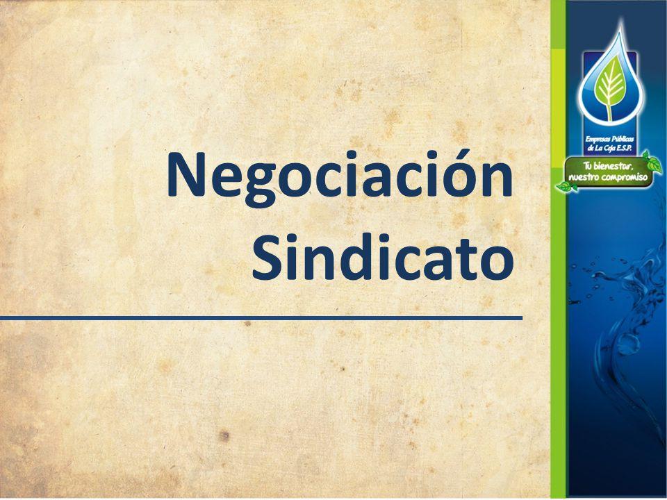 Negociación Sindicato